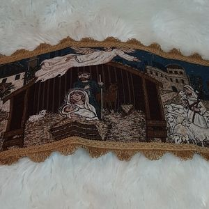 Table Runner Embroidery Lord Jesus Birth Manager